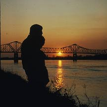 sunset in Natchez